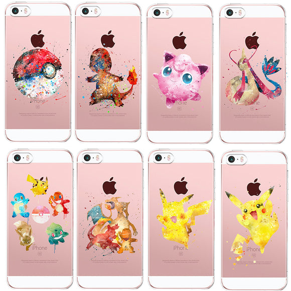 Splash Print Pokemon iPhone Cases (6/6S/7/8/X and Plus versions)