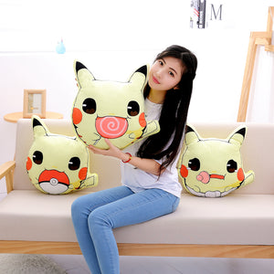 Pikachu-shaped Plush Throw Pillows