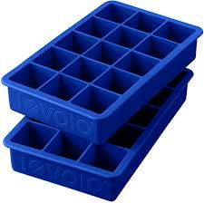 Blue Perfect Cube Ice Tray- set of 2