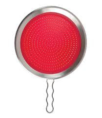 Silicone Splatter Screen Red