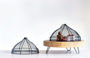 Metal Wire and Abaca Food Cover