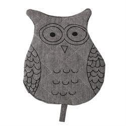 Cotton Owl Oven Mitt, Black