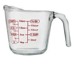 16 oz Glass Liquid Measuring Cup