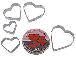 HEART FLUTED CC TIN SET/5