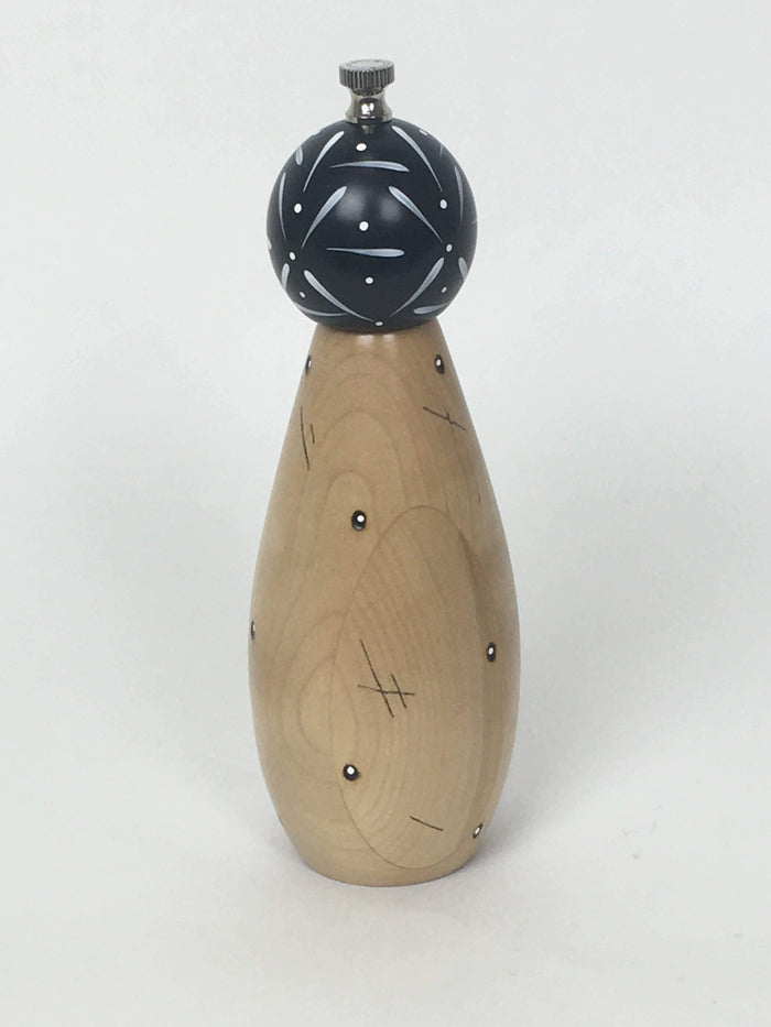 William Bounds PEP ART Native American Design Gourd Natural Pepper Mill 9""