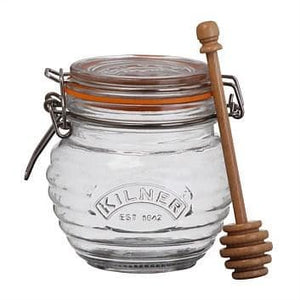 Kilner 13.5 Oz. Clear Glass Honey Pot w/ Dipper
