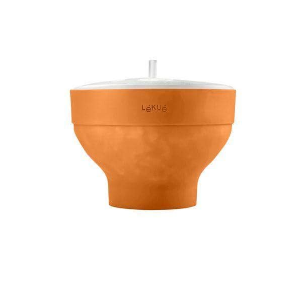 Silicone Microwave Popcorn Popper Orange