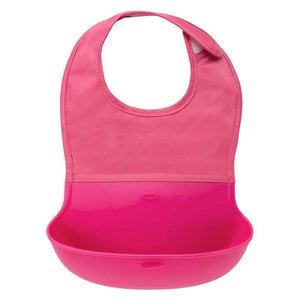 OXO Roll Up Bib Pink