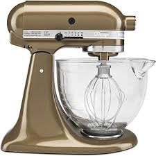 KitchenAid KSM155GBTF Artisan Design Series with Glass Bowl, 5 quart, Toffee by KitchenAid