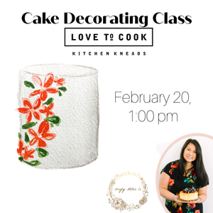 February 20th @ 1:00 PM Hands-on Basic Cake Decorating Class w/ Muyly Miller