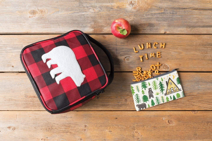 Now Designs Buffalo Check Bear Lunch Box