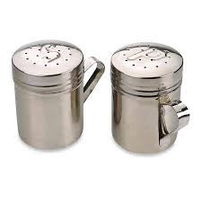 Salt & Pepper Shakers SS Stovetop Style