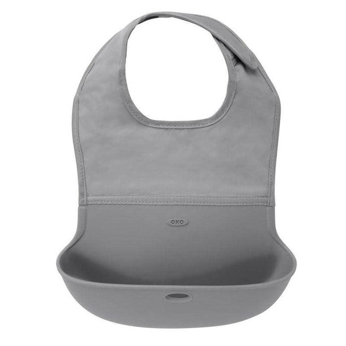 OXO Roll Up Bib Gray
