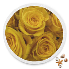 Yellow Roses Round Beach Blanket