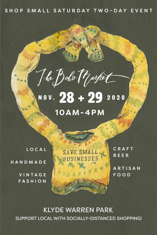 The Boho Market Shop Small Saturday & Sunday November 28 & 29, 2020
