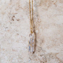 Load image into Gallery viewer, divine clear quartz crystal wrap necklace