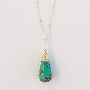 eilat stone karma drop necklace