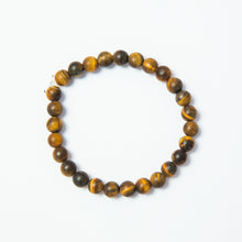 Load image into Gallery viewer, matte tiger eye mala bead stretch bracelet