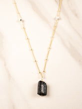 grounding black tourmaline necklace | gold