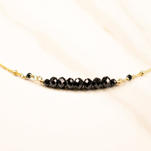 black spinel samskara choker | gold