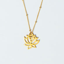 little lotus necklace gold filled 14k heavy plated sterling silver