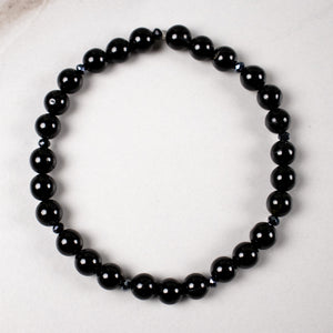 onyx + black spinel stretch bracelet