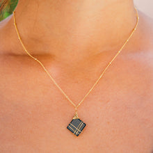 Load image into Gallery viewer, semiconductor chip circuit board necklace gold filled sterling silver geek gear