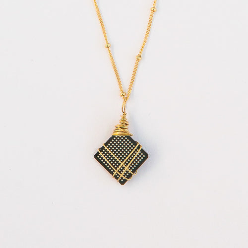 semiconductor chip circuit board necklace gold filled sterling silver geek gear