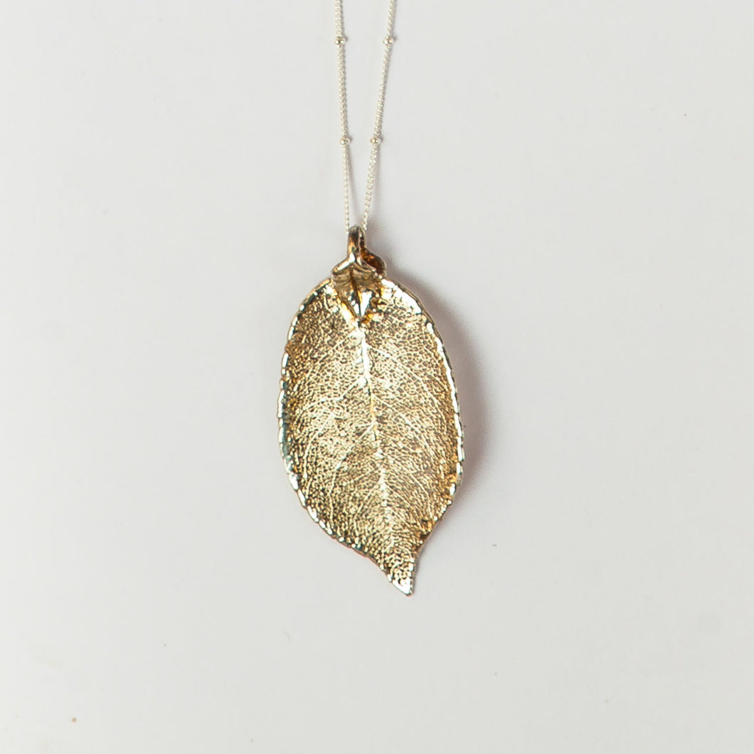 silver evergreen leaf | silver satellite chain