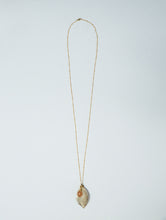 silver evergreen leaf and sunstone necklace | gold filled satellite chain