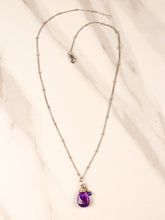 Load image into Gallery viewer, amethyst karma drop necklace | silver