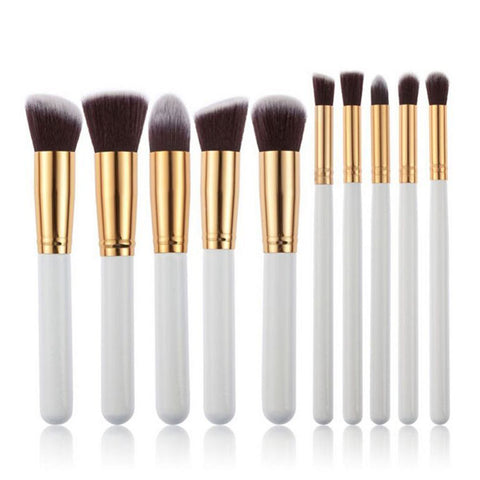 10 in 1 Set Pro Women Cosmetic Brushes