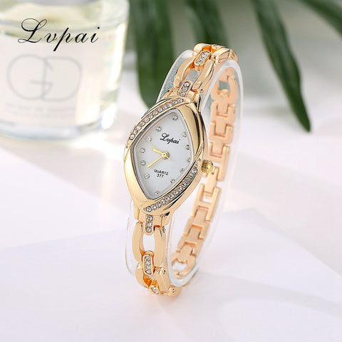 Quartz Rhinestone Bangle Watch