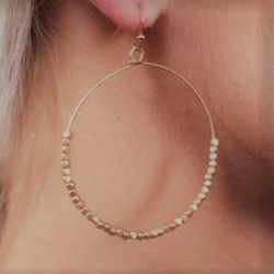 SIMPLY ADORABLE MATTE GOLD HOOP EARRINGS
