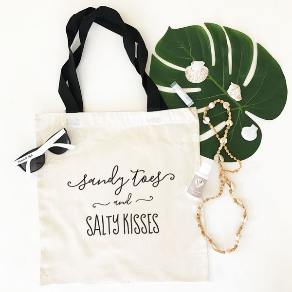 Sandy Toes & Salty Kisses Tote