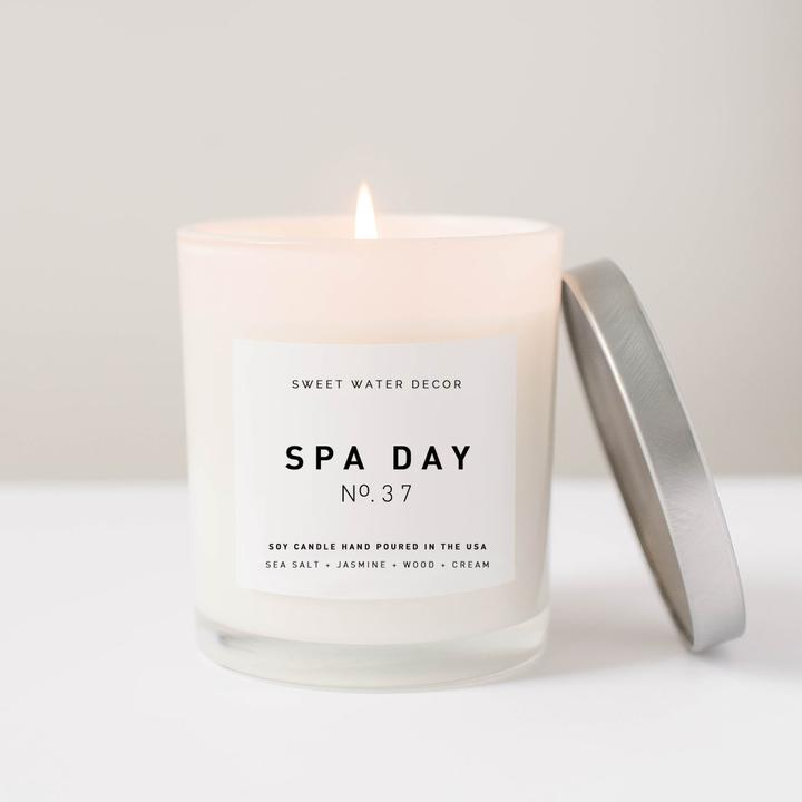 SPA DAY SOY CANDLE | WHITE JAR