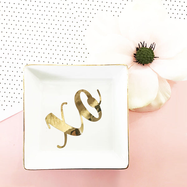 XO Ring Dish - White