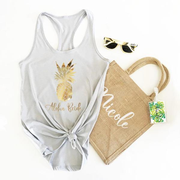 Tropical Design Tank Tops