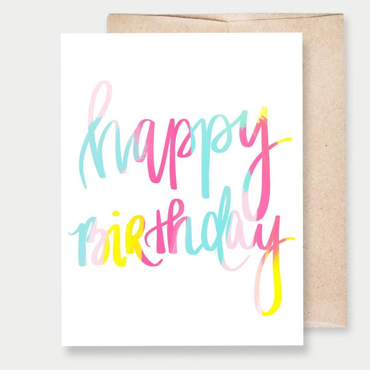 HAPPY BIRTHDAY COLORFUL - GREETING CARD