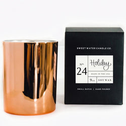 HOLIDAY SOY CANDLE | ROSE GOLD CANDLE