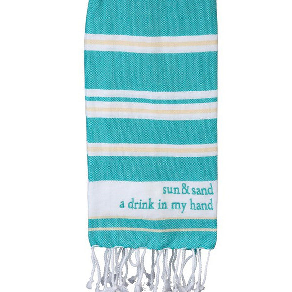 Sun & Sand A Drink In My Hand dish towel