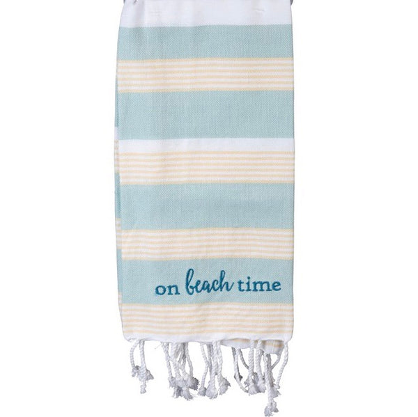 On Beach Time Dish Towel