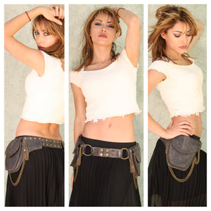 Sunset Chains Dual Pouch Belt Bag