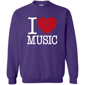 I Love Music Pullover Sweatshirt