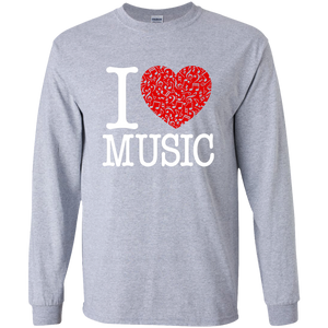I Love Music Long Sleeve T-Shirt