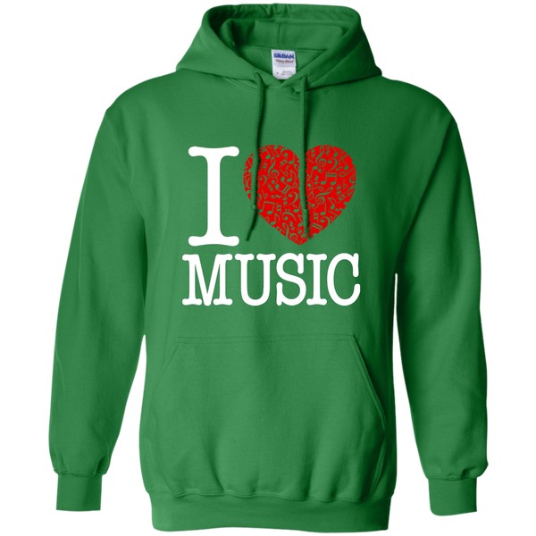 I Love Music Pullover Hoodie