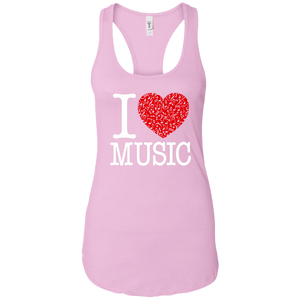 I Love Music Women's Racerback Tank