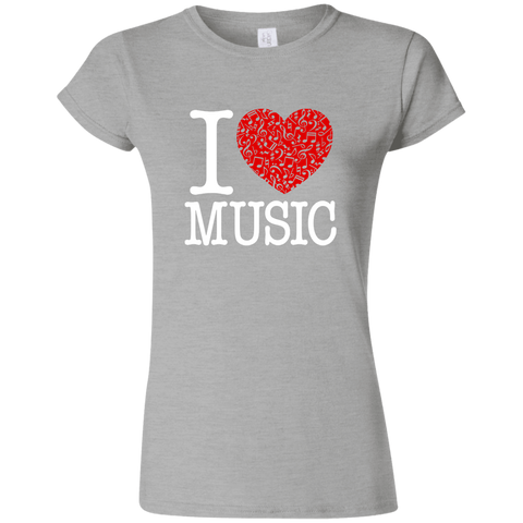 I Love Music Women's T-Shirt