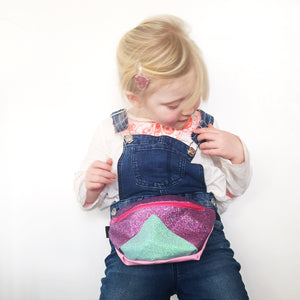 Kids purple and mint bumbag