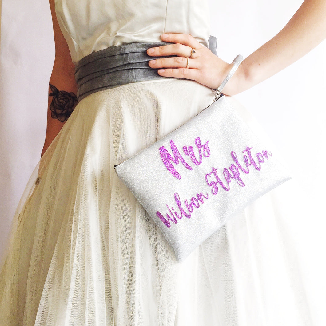 Customised MRS clutch bag